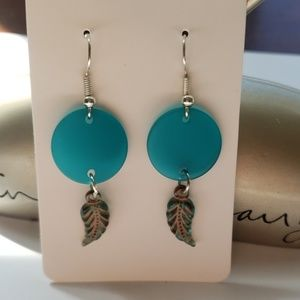 Blue/ Feather/ Charmed/ Earring's